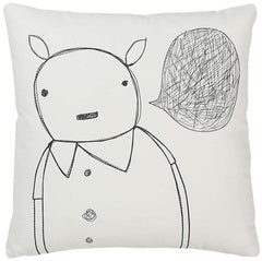 Throw Pillows - Strange Portrait Series - Animal Man Pillow