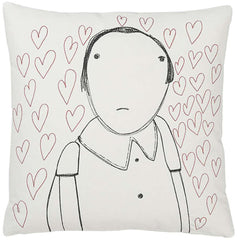 Strange Portrait Series - Lovesick Girl Pillow