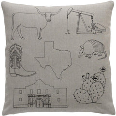 Throw Pillows - Texas Pillow