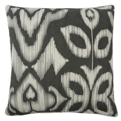 Throw Pillows - Thomaspaul Ikat 22x22 Pillow - Charcoal