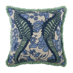 Throw Pillows - Thomaspaul Seahorse Vineyard Flax Pillow