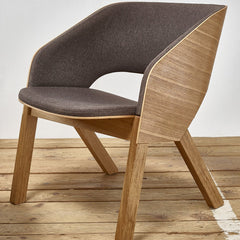 Merano Lounge Chair - Oak Frame