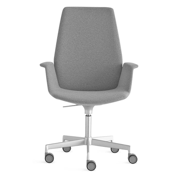 Uno High Back Office Chair - Swivel Base with Castors, Adjustable