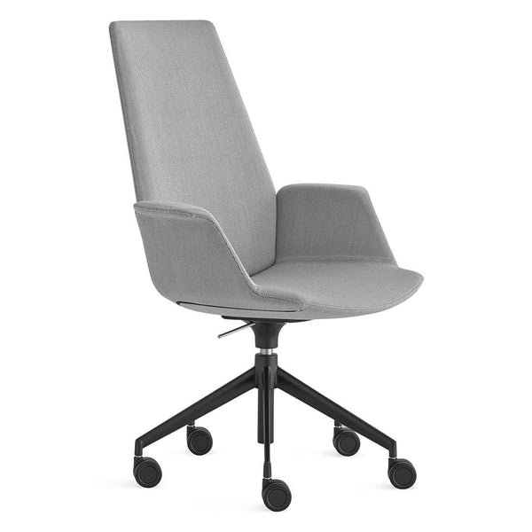 Uno High Back Office Chair - 5-Star Base with Castors, Adjustable