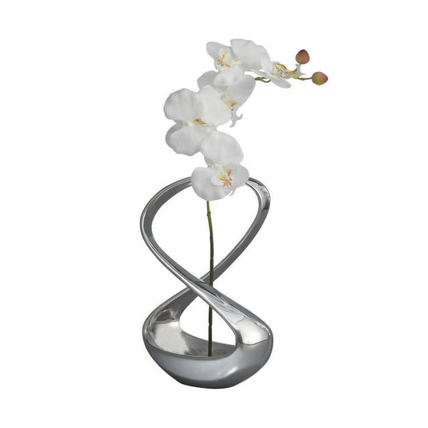 Vases & Centerpieces - Infinity Vase With Silk Orchid