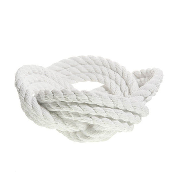 Vases & Centerpieces - Rope Knot Bowl - White