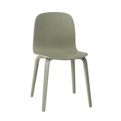 Visu Chair - Wood Base, Dusty Green - Outlet