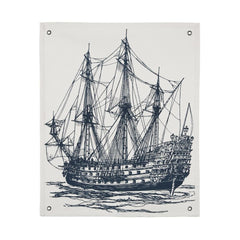 Wall Décor - Ship Canvas Wall Panel - Ink