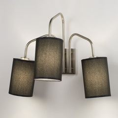 Wall Sconces - Coopster 3 Light Sconce In Brushed Nickel Finish