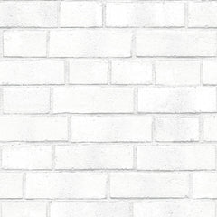 Wallpaper - Brick Temporary Wallpaper - White