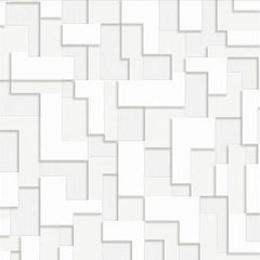 Wallpaper - Checker (Nonwoven) Wallpaper - White