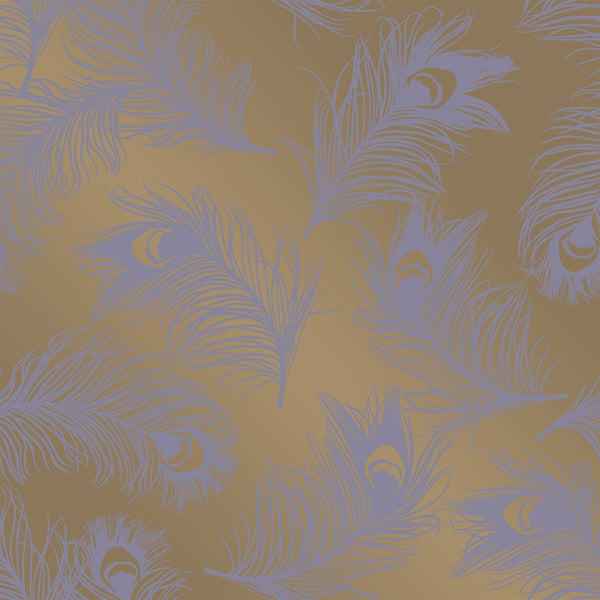 Wallpaper - Feathers Lavender Temporary Wallpaper
