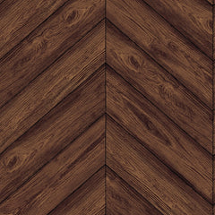 Wallpaper - Herringbone Temporary Wallpaper - Walnut