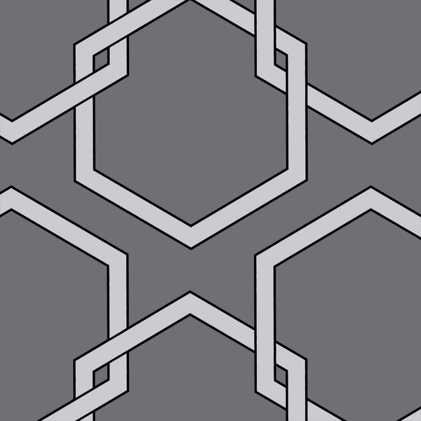 Wallpaper - Honeycomb Temporary Wallpaper - Grey