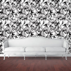 Wallpaper - L'Amour Temporary Wallpaper - Black And White