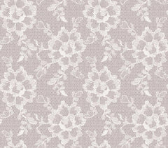Wallpaper - Lace Textured Temporary Wallpaper - White Chocolate