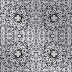 Wallpaper - Medallion Platinum Temporary Wallpaper