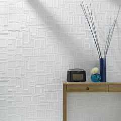 Wallpaper - Paintables Superfresco Wallpaper - Large Squares Pattern