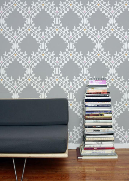 Wallpaper - Leaf Damask