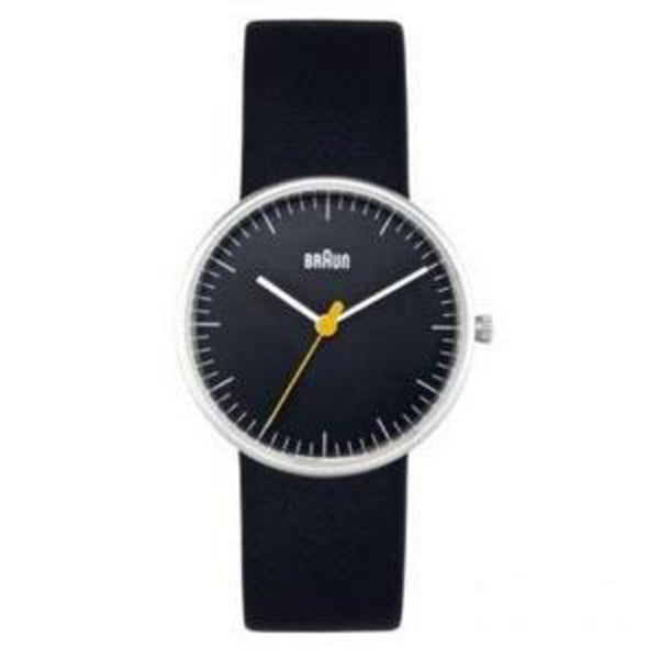 Watches - Ladies Analog Wrist Watch - Black Face, Black Leather Band