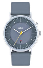Watches - Men's Analog Watch - Gray Face, Gray Leather Band