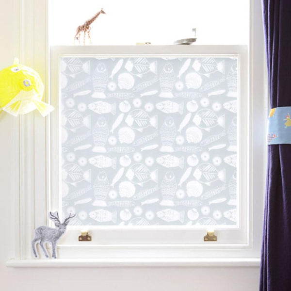 Window Treatments - PVC-Free Window Film - Fishy Fish