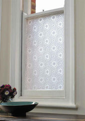 Window Treatments - White Otto Tile Adhesive Film