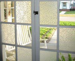 Window Treatments - White Pixels Adhesive Film