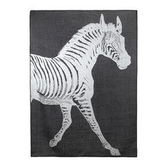 Zebra Alpaca Throw