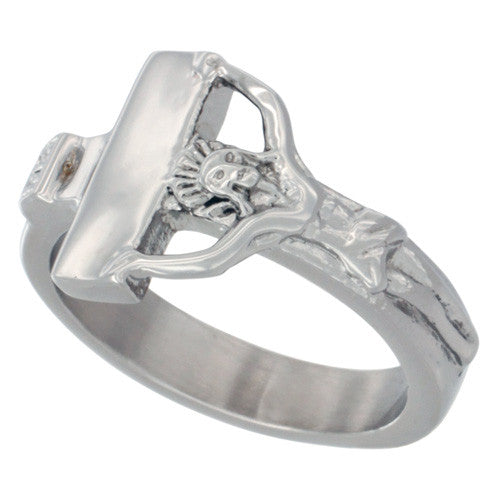 Stainless Steel Crucifix Ring - powerofchrist