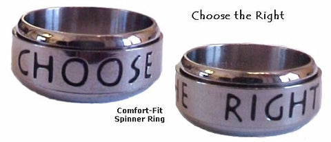 Stainless Steel Spinning Ring - powerofchrist
