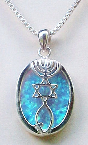 Messianic Seal with Large Opal Stone - powerofchrist