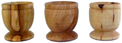 15 Olive Wood Communion Cups Set - powerofchrist