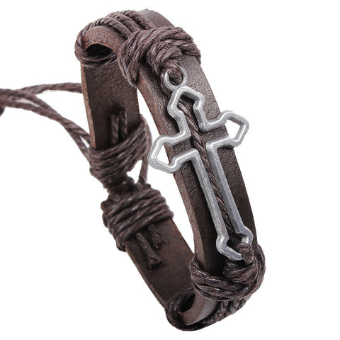 Cowhide Leather Bracelet - powerofchrist