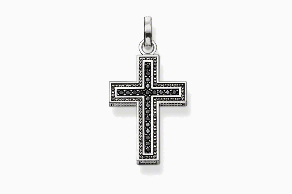 Sterling Silver Black Cross Pendant - powerofchrist