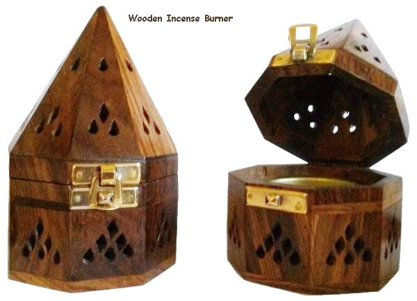 Wooden Incense Burner with Gold Clasp - powerofchrist