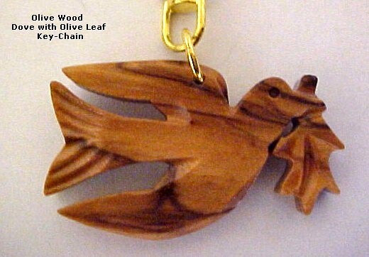 Dove OliveWood Key Chain - powerofchrist
