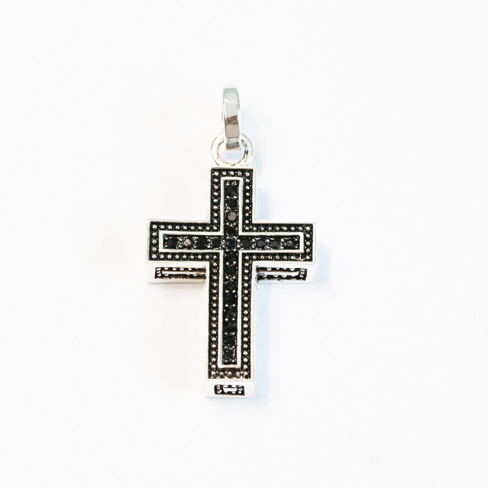 Sterling silver black cross pendant powerofchrist sterling silver black cross pendant powerofchrist aloadofball Image collections
