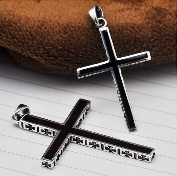 Mens Silver Cross Pendant - powerofchrist
