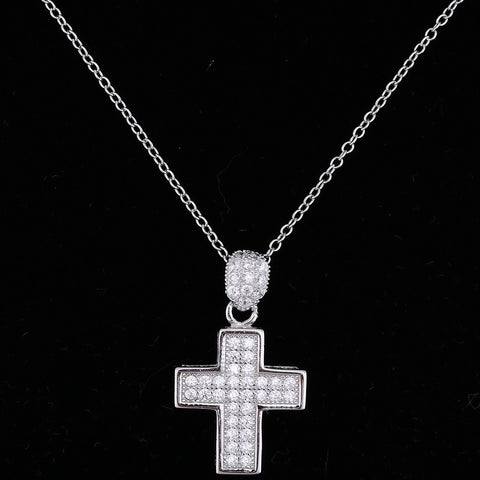 Sterling Silver Cross Necklace - powerofchrist