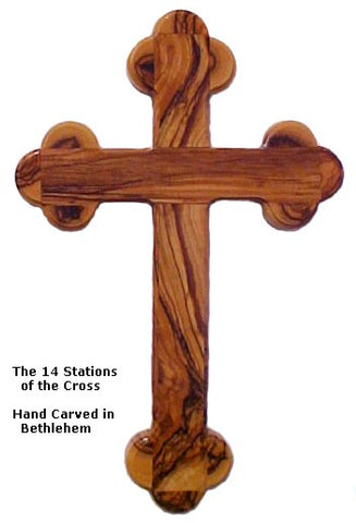 14 Stations Olive Wood Cross - powerofchrist