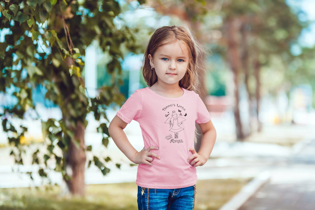 Daddy's Little Angel T-Shirt For Toddler Girls - powerofchrist