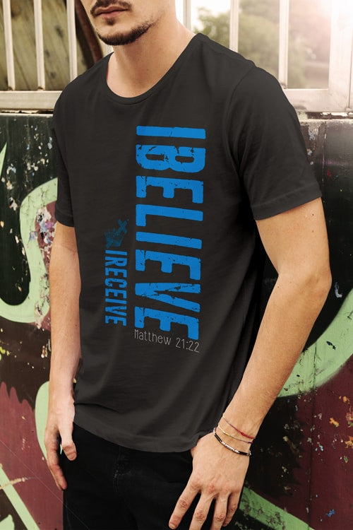 I Believe I Receive Men's T-Shirt - powerofchrist