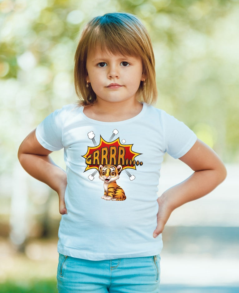 Beautiful Tiger T-Shirt For Toddler Girls - powerofchrist