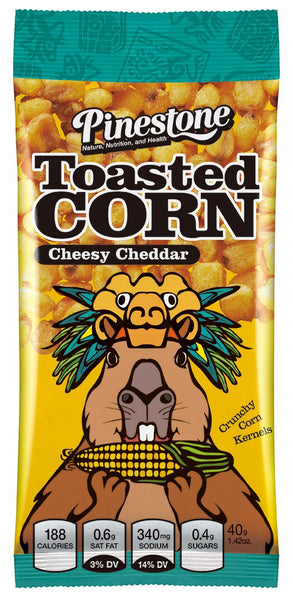 Toasted Corn Snack - Cheesy Cheddar