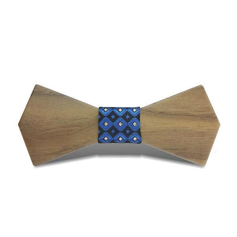 Bat Wings III - Retro Black Walnut Wood, Pattern Knot, Bow Tie - Subtle Fit