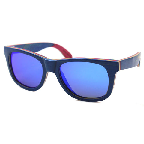 Capitalite - Unisex Wood Polarized Square Sunglass