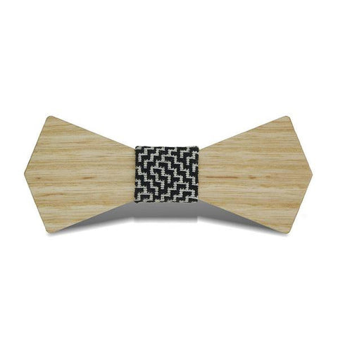 Bat Wings II - Retro Ash Wood, Pattern Knot, Bow Tie - Subtle Fit