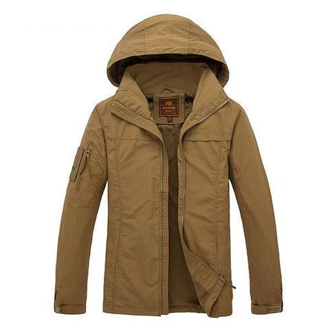 Invasio - Men's Casual Hooded & Waterproof Jacket