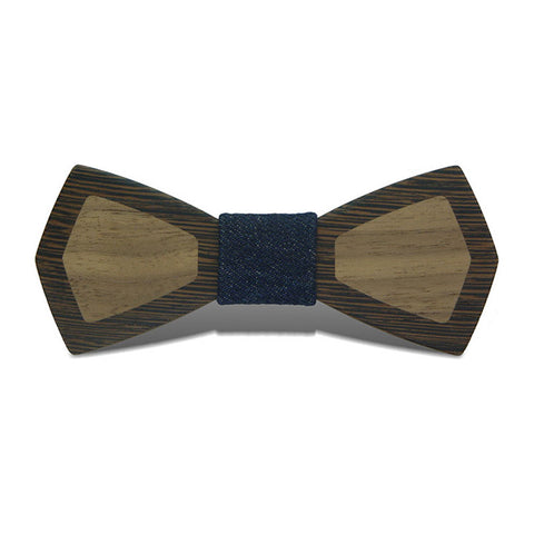 Patchwork II - Retro Two-Toned Black Walnut & Wenge Wood, Pattern Knot, Bow Tie